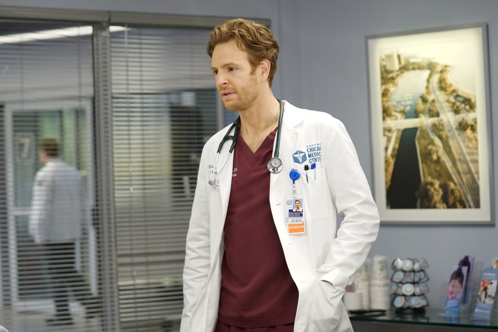 Nick Gehlfuss on Chicago Med | Elizabeth Sisson/NBC/NBCU Photo Bank via Getty Images