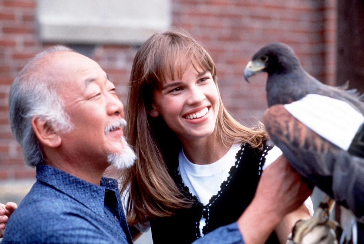 Pat Morita and Hilary Swank in 1994's 'The Next Karate Kid'