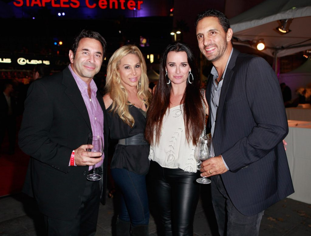 'The Real Housewives of Beverly Hills' TV personalities Paul Nassif, Adrienne Maloof, Kyle Richards, and Mauricio Umansky attend the premiere of Los Angeles Food & Wine at LA Live on October 13, 2011, in LA, California