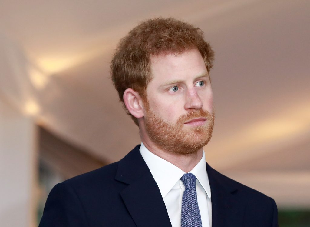 Photo of Prince Harry from the shoulders up as he attends The Landmine Free World event