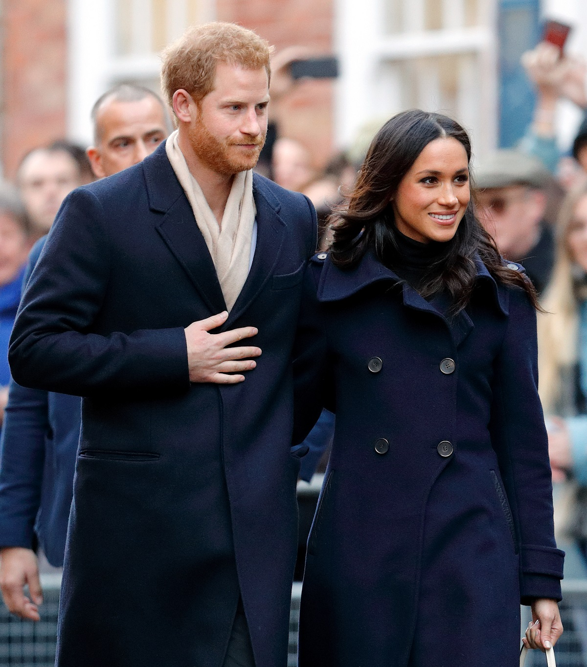 Prince Harry and Meghan Markle attend a Terrence Higgins Trust World AIDS Day charity fair at Nottingham Contemporary on December 1, 2017 in Nottingham, England.