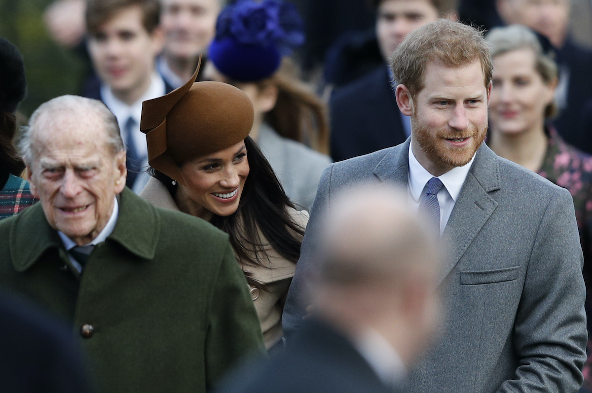 Prince Harry, Meghan Markle, and Prince Philip attend Christmas Day church services