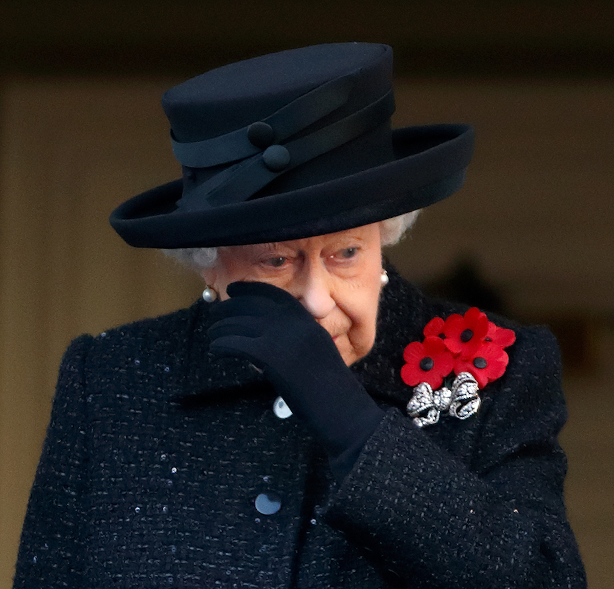 ueen Elizabeth II attends the annual Remembrance Sunday service