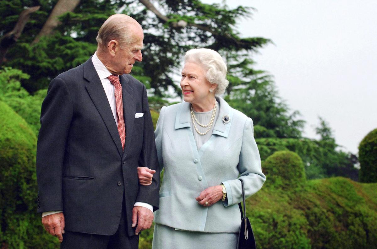 Queen Elizabeth gazes at her husband Prince Philip