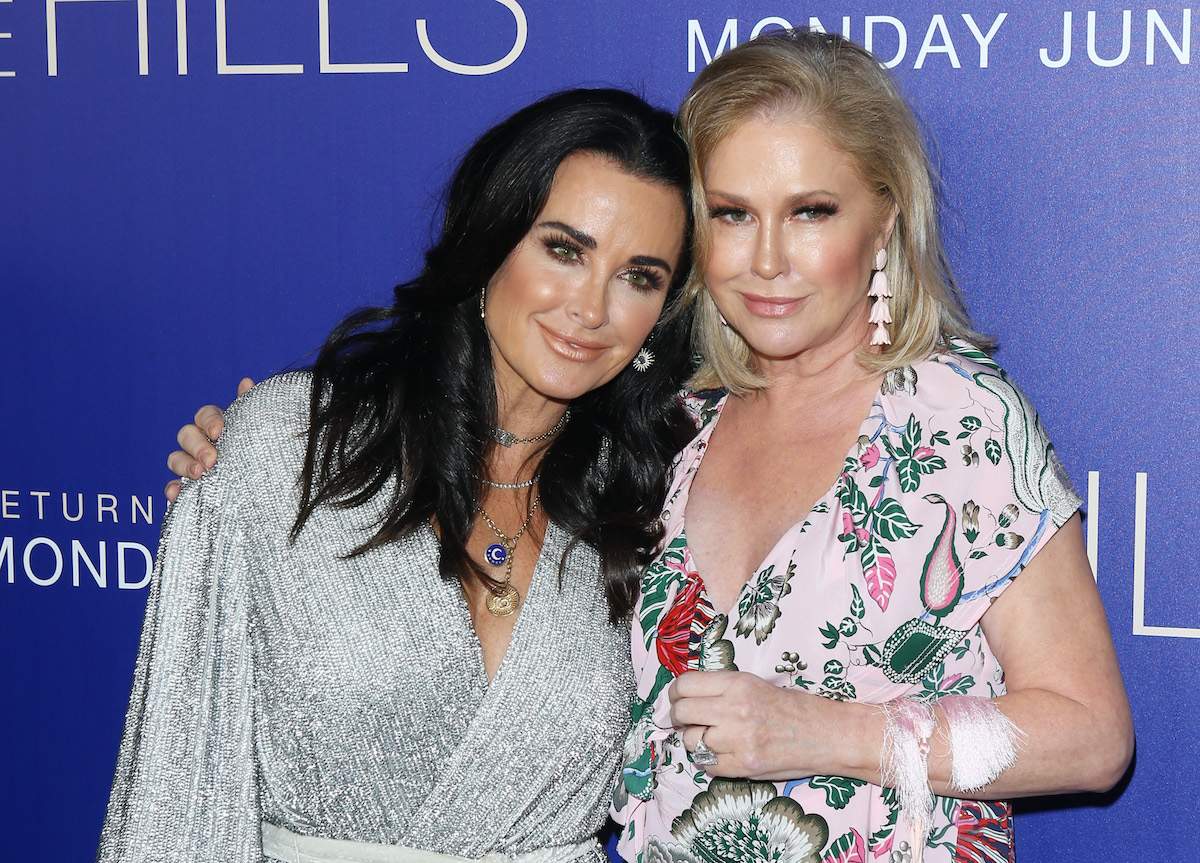 Kyle Richards and Kathy Hilton attend a gala in 2019