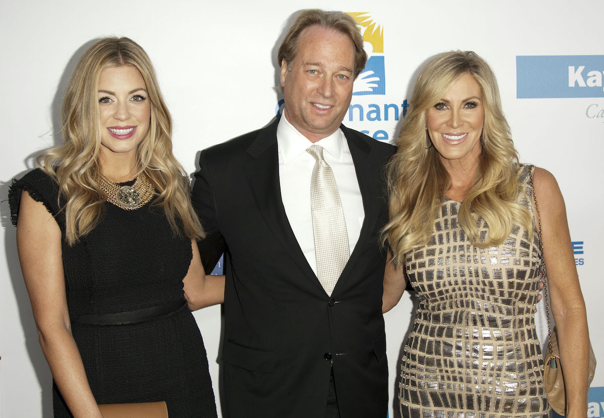 Lauri Peterson, daughter Ashley Zarlin and husband George Peterson arrive at a gala in 2013