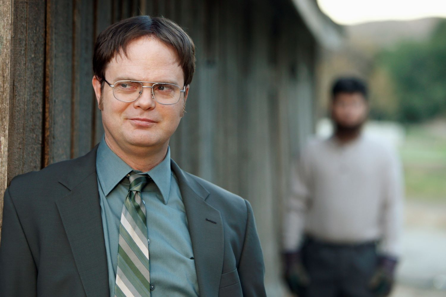 Rainn Wilson and Michael Schur in 'The Office'