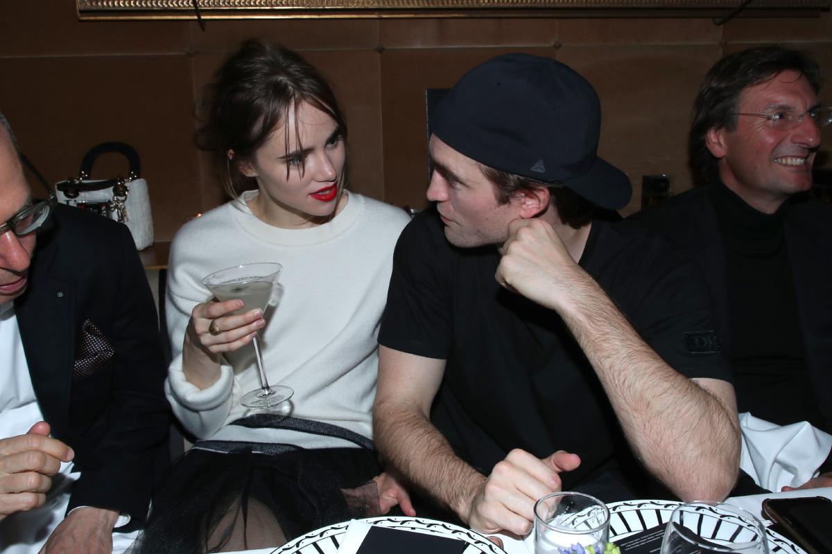 Suki Waterhouse and Robert Pattinson attend the Dior Perfume Dinner, as part of Paris Fashion Week, at Caviar Kaspia on January 17, 2020
