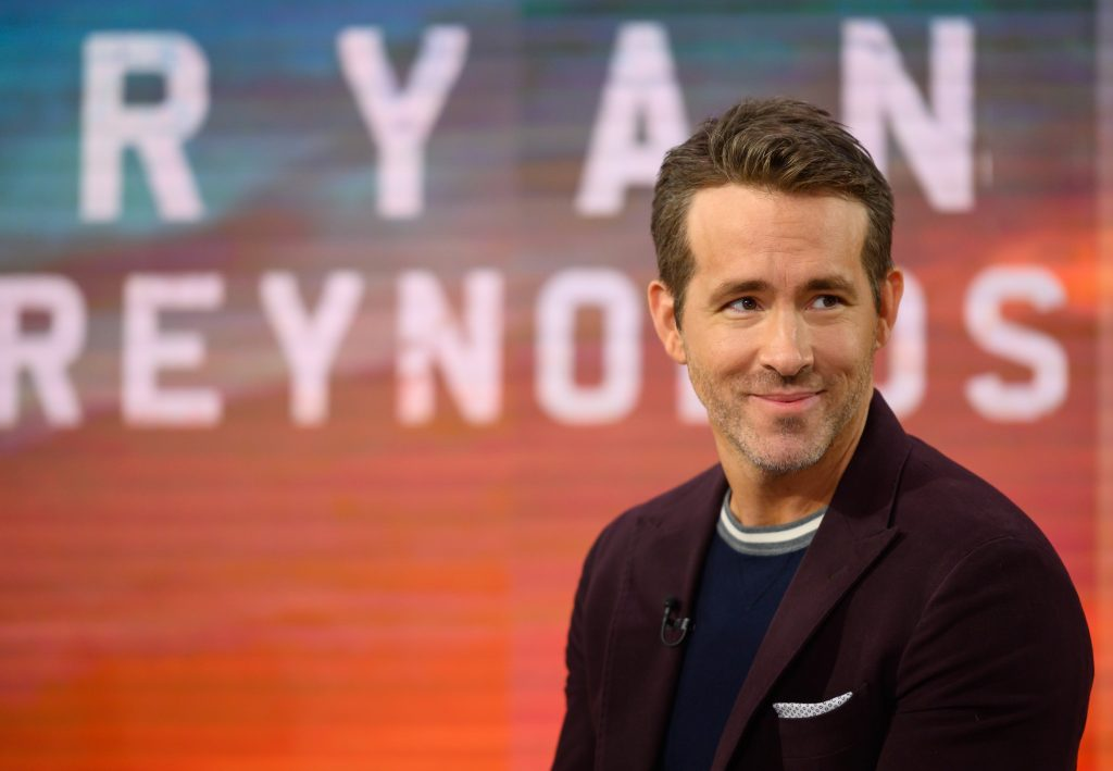 Ryan Reynolds smiling on the set of Today Show in 2019