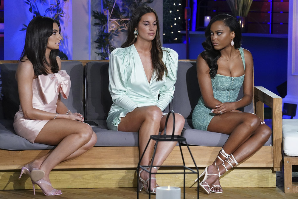 Paige DeSorbo, Hannah Berner, Ciara Miller during the Summer House reunion