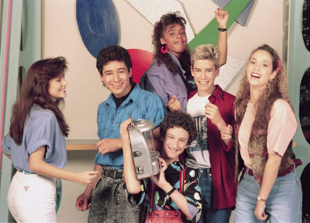 'Saved by the Bell' cast, laughing
