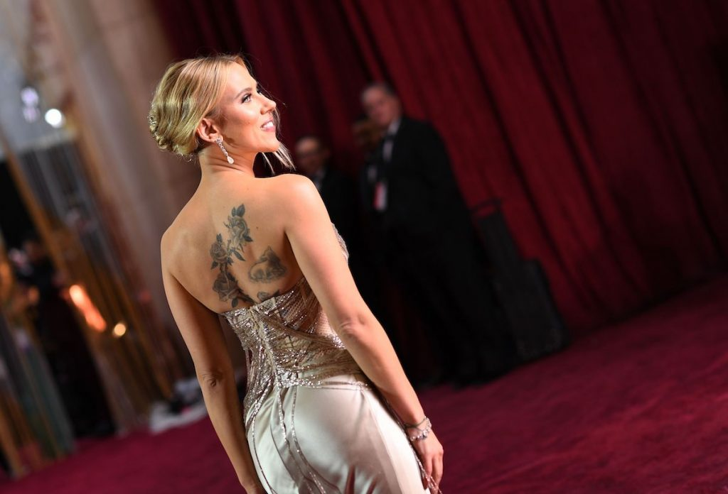 Scarlett Johansson arrives for the 92nd-annual Oscars at the Dolby Theatre in Hollywood, California, on February 9, 2020
