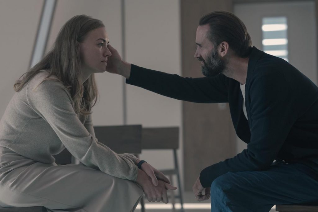 Yvonne Strahovski as Serena Joy Waterford and Joseph Fiennes as Fred Waterford in 'The Handmaid's Tale' Season 4