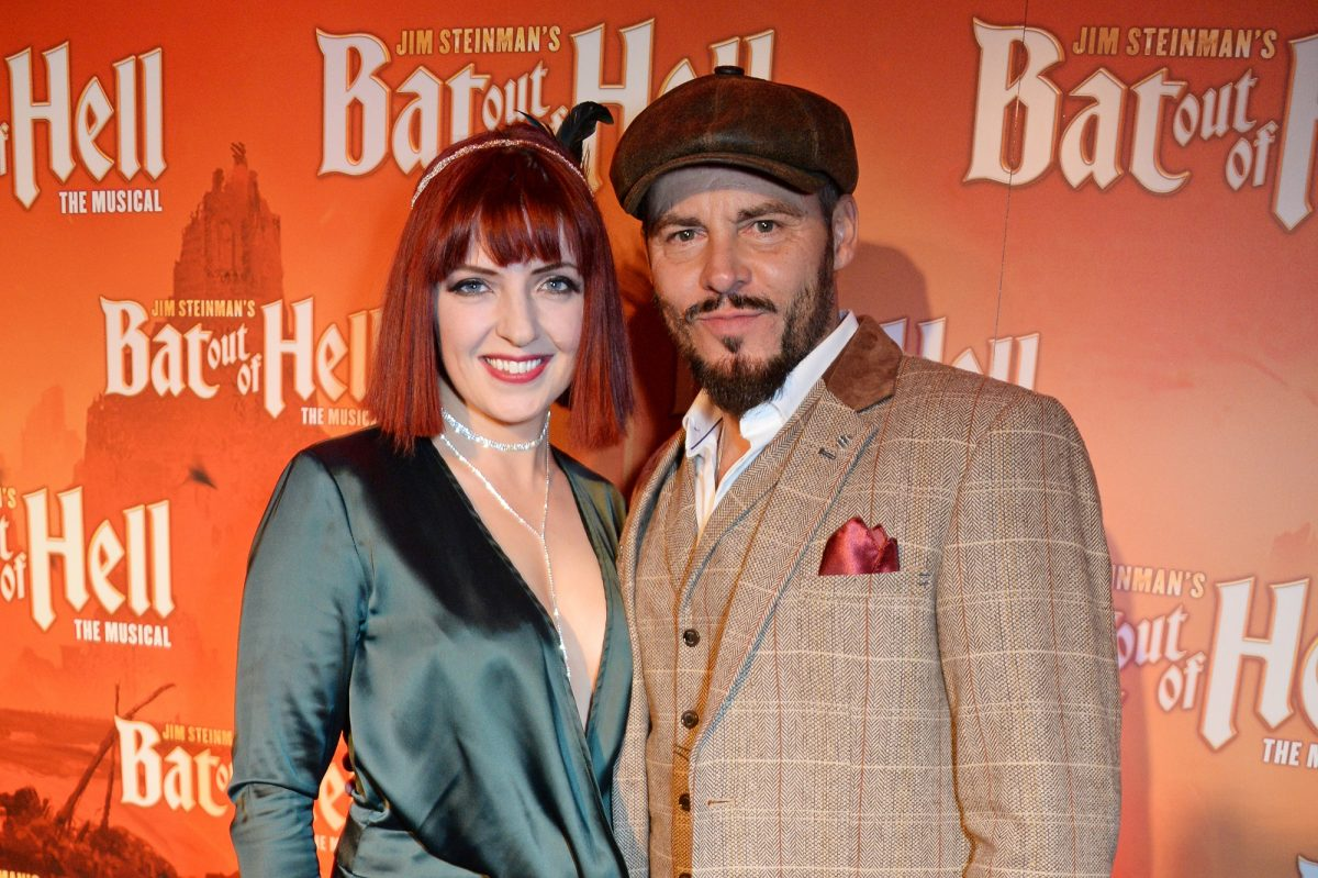 Sharon Sexton and Rob Fowler on the red carpet for Bat Out of Hell: The Musical