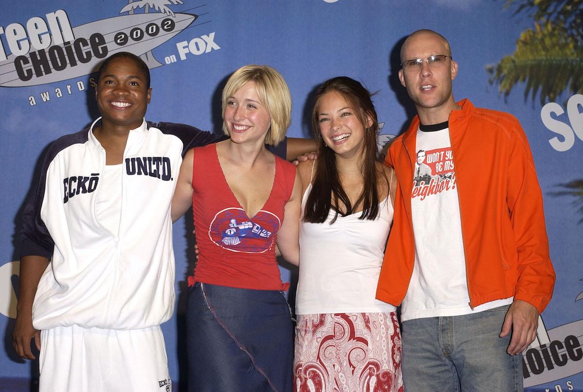 'Smallville' stars Sam Jones III, Allison Mack, Kristin Kreuk, and Michael Rosenbaum at the 2002 Teen Choice Awards