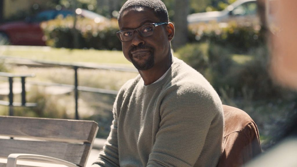 Sterling K. Brown as Randall Pearson at the transracial adoption support group in 'This Is Us' Season 5 Episode 12