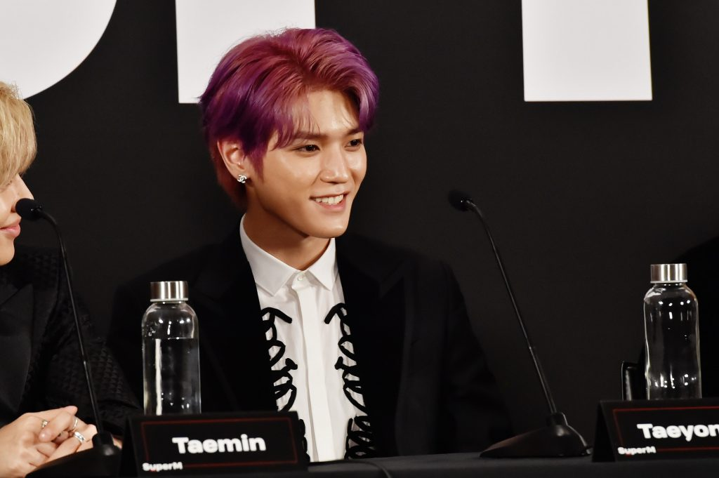 Taeyong during the SuperM Premiere Event Live From Capitol Records in 2019