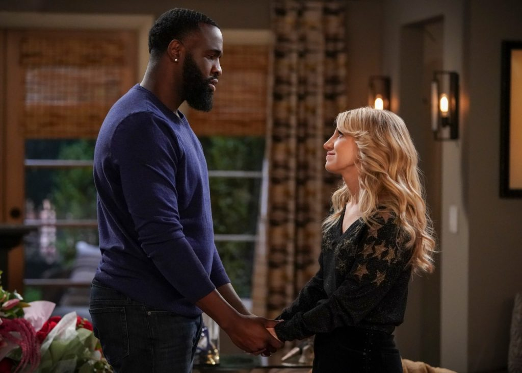 Terrence Terrell and Annaleigh Ashford on 'B Positive' | Michael Yarish/CBS via Getty Images