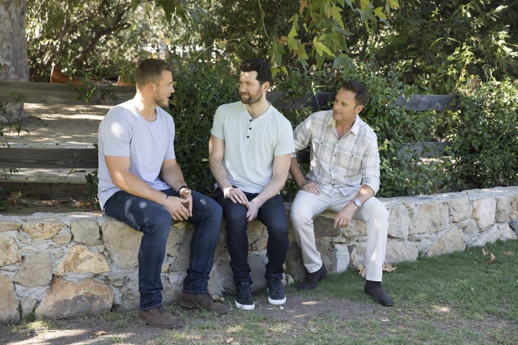 The Bachelor Colton Underwood with Billy Eichner and host Chris Harrison