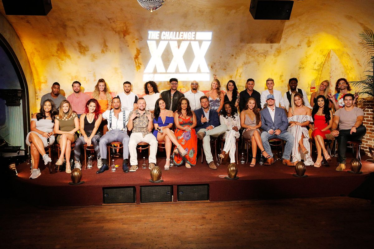 The cast of The Challenge XXX: Ultimate Fan Experience on stage
