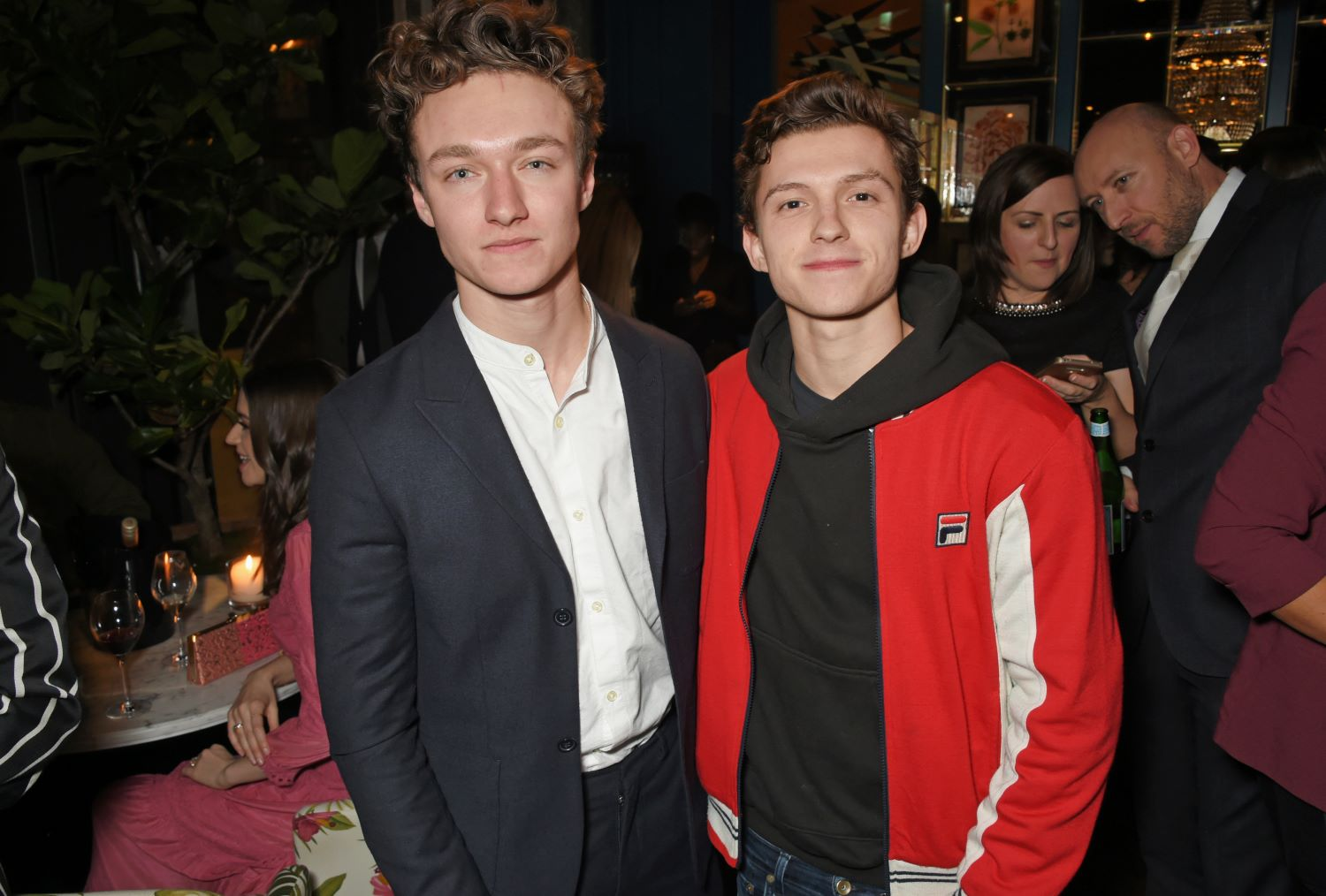 'The Irregulars' star Harrison Osterfield with Tom Holland