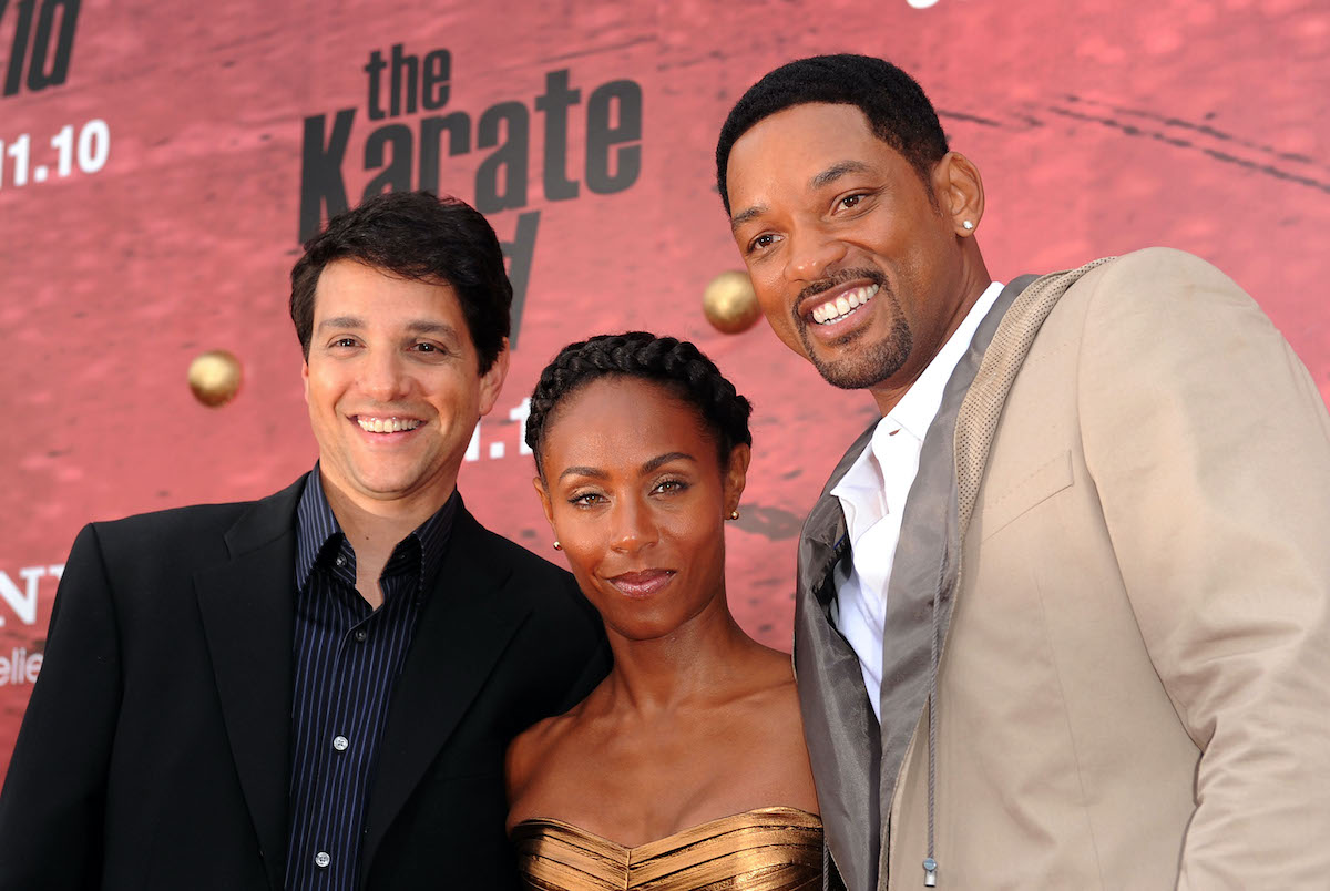 Ralph Macchio, Jada Pinkett Smith, and Will Smith at 'The Karate Kid' premiere in 2010
