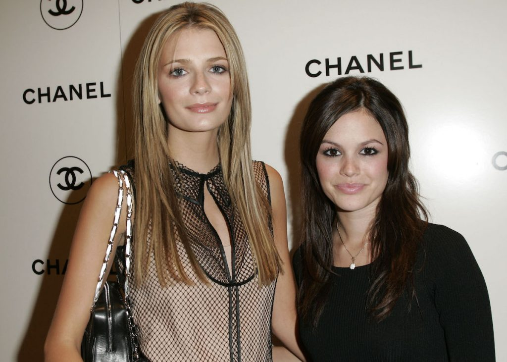 'The O.C.' stars Mischa Barton and Rachel Bilson pose together at a Chanel party