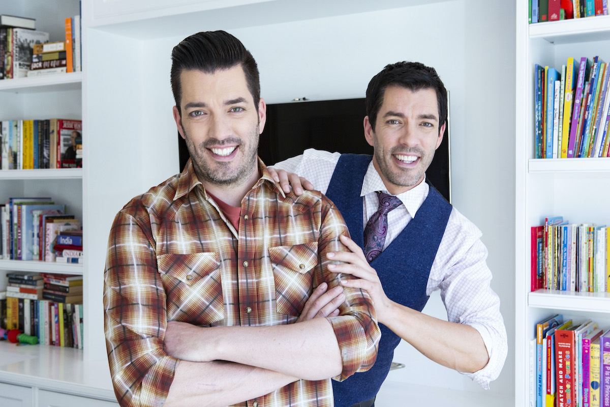 Drew and Jonathan Scott pose for a photo shoot