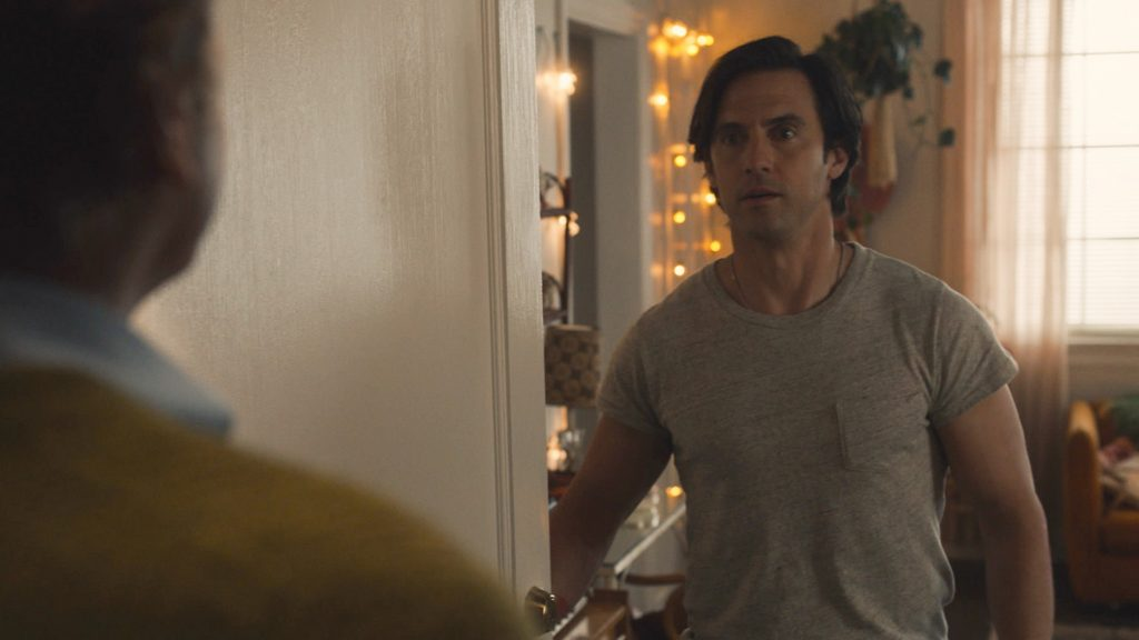 This Is Us Season 5 Episode 12 with Milo Ventimiglia as Jack and Jon Huertas as Miguel