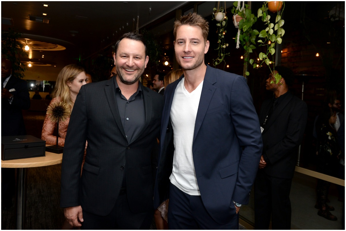 Dan Fogelman and Justin Hartley from 'This Is Us' smiling