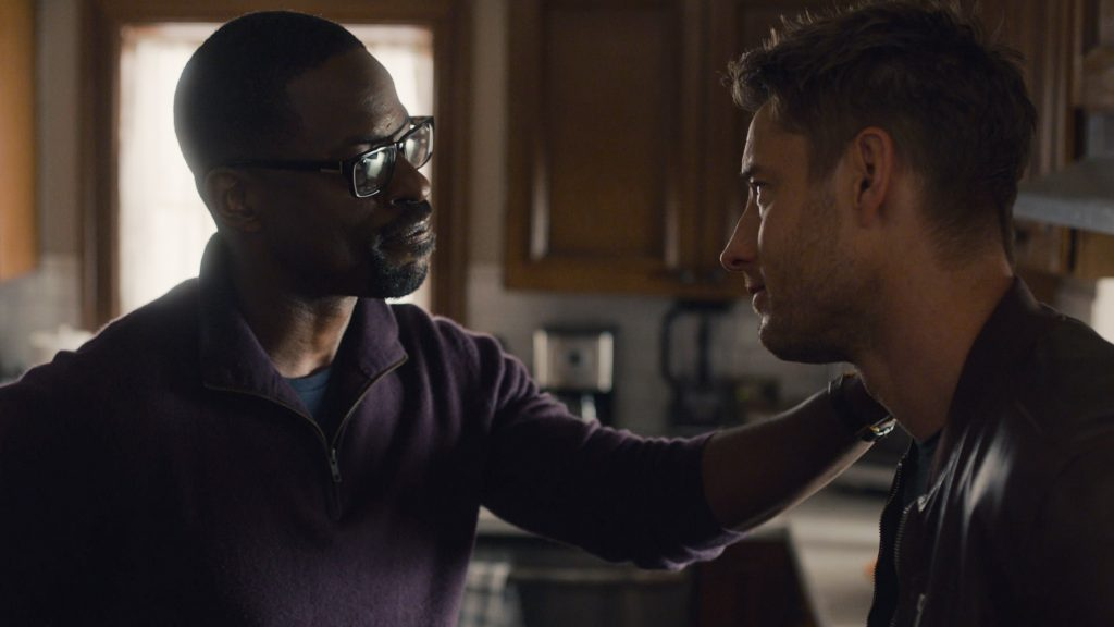 This Is Us Season 5 Episode 13 with Sterling K. Brown and Justin Hartley as Randall and Kevin