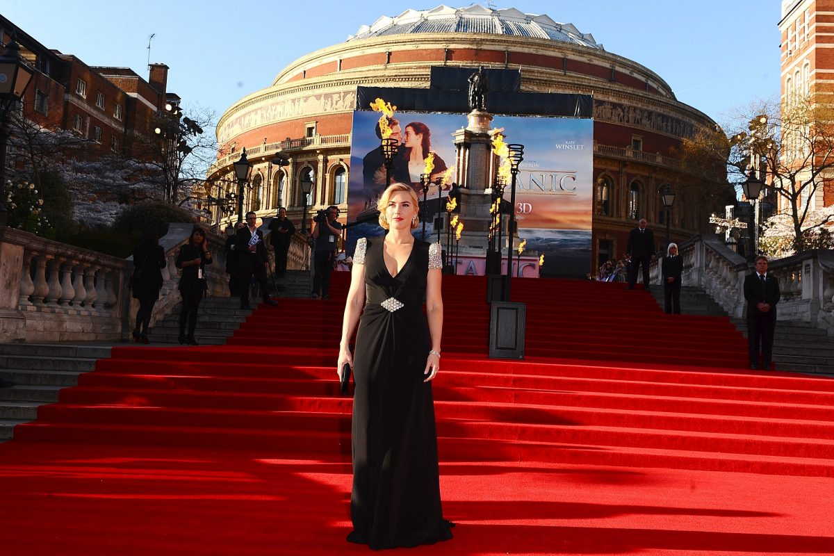 Titanic 3D Premiere - Kate Winslet stands on the Royal Albert Hall steps