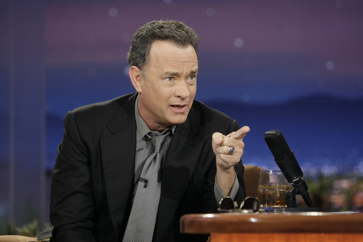 Tom Hanks during an interview on 'The Tonight Show with Conan O'Brien' in 2010