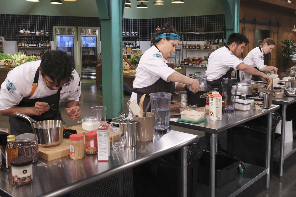 Maria Mazon, Shota Nakajima, Sara Hauman on Top Chef