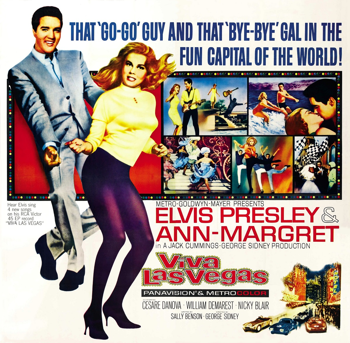 'Viva Las Vegas' poster featuring Ann-Margret and Elvis Presley