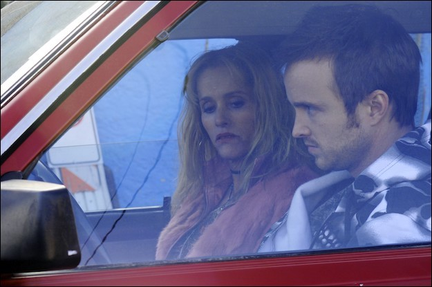 Wendy and Jesse on the set of Breaking Bad