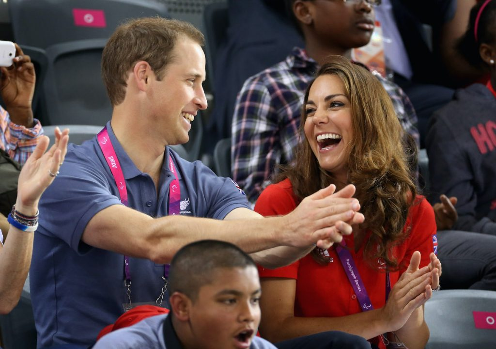 Prince William and Kate Middleton share a laugh in London in 2012, a little more than a year after marrying.