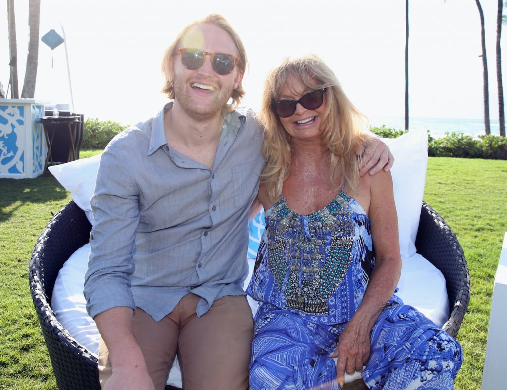 Wyatt Russell and Goldie Hawn