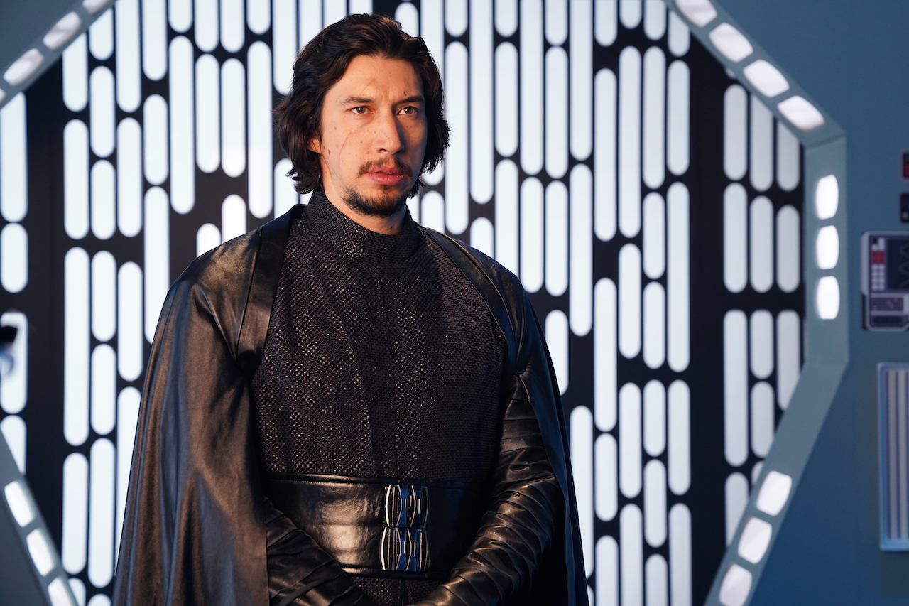 """Host Adam Driver as Kyle Ren during the """"Undercover Boss: Where Are They Now"""" sketch on """"Saturday Night Live"""""""