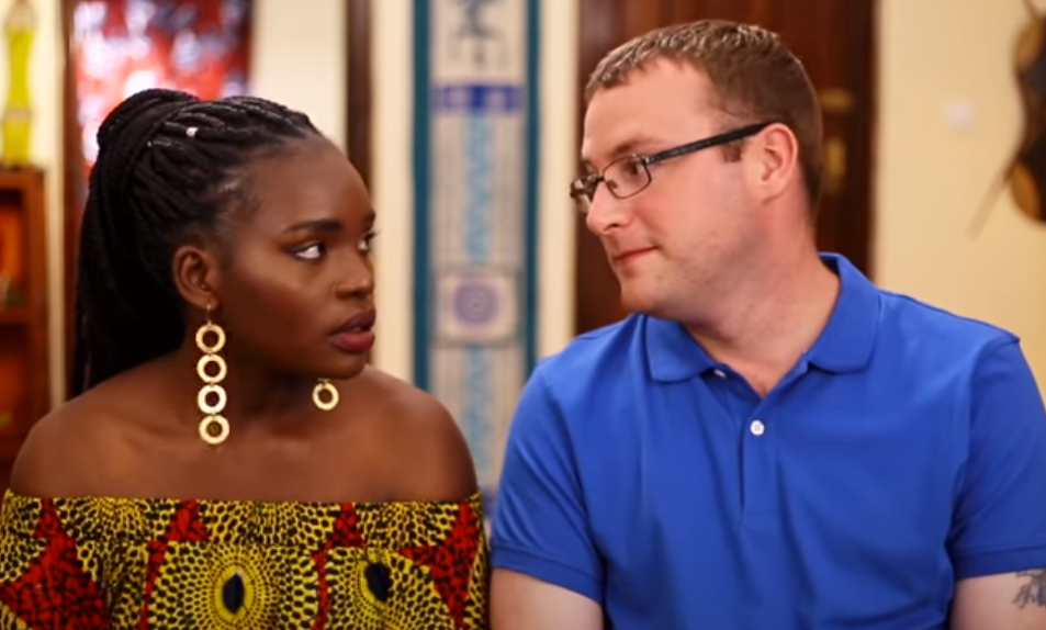 Benjamin Taylor in blue shirt and Akinyi Obala from '90 Day Fiancé''