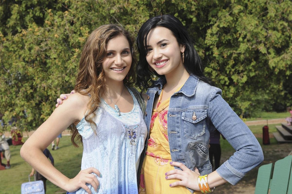 Alyson Stoner (L) and Demi Lovato in 'Camp Rock 2: The Final Jam.'