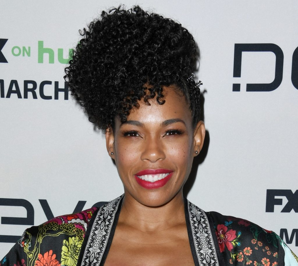 'Snowfall' star Angela Lewis attends the premiere of FX's 'Devs' in March 2020