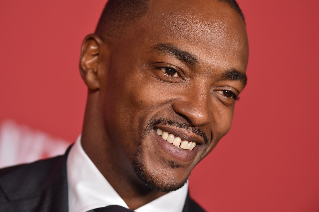 Actor Anthony Mackie arrives at SAG-AFTRA Foundation Patron of the Artists Award