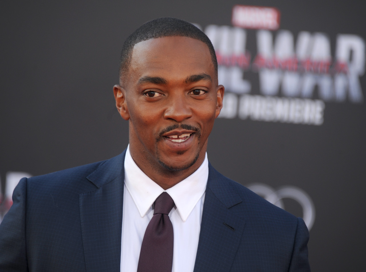 "Anthony Mackie arrives at the premiere of Marvel's ""Captain America: Civil War"""