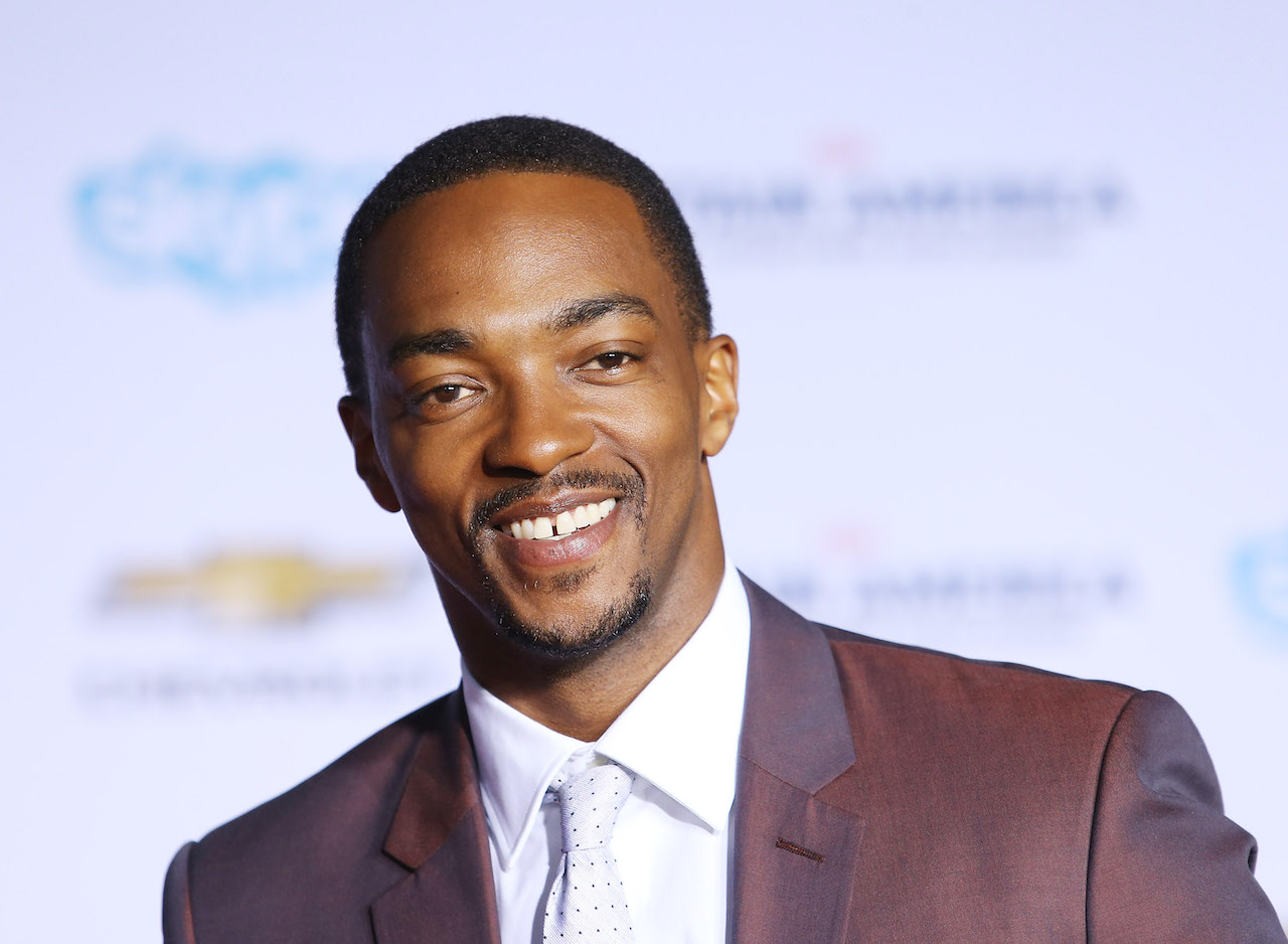 "Anthony Mackie arrives at the Los Angeles premiere of ""Captain America: The Winter Soldier"""