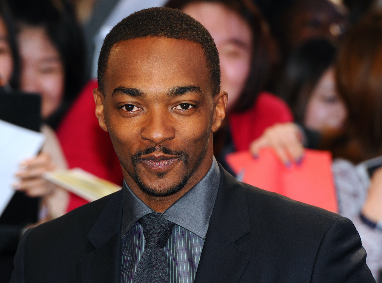 """Anthony Mackie attends the UK Film Premiere of """"Captain America: The Winter Soldier"""" at Westfield London"""