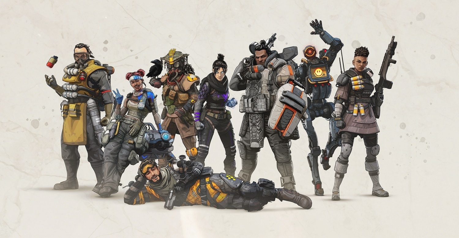 The eight original characters in Apex Legends