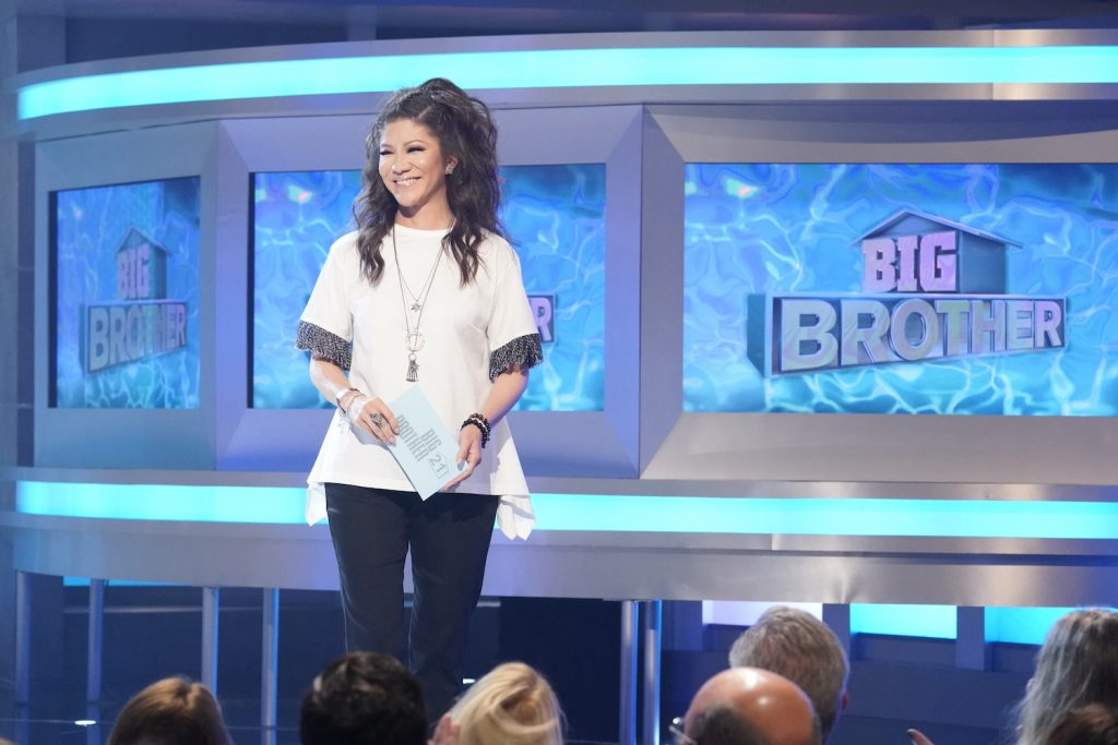 Host Julie Chen on the set of 'Big Brother'