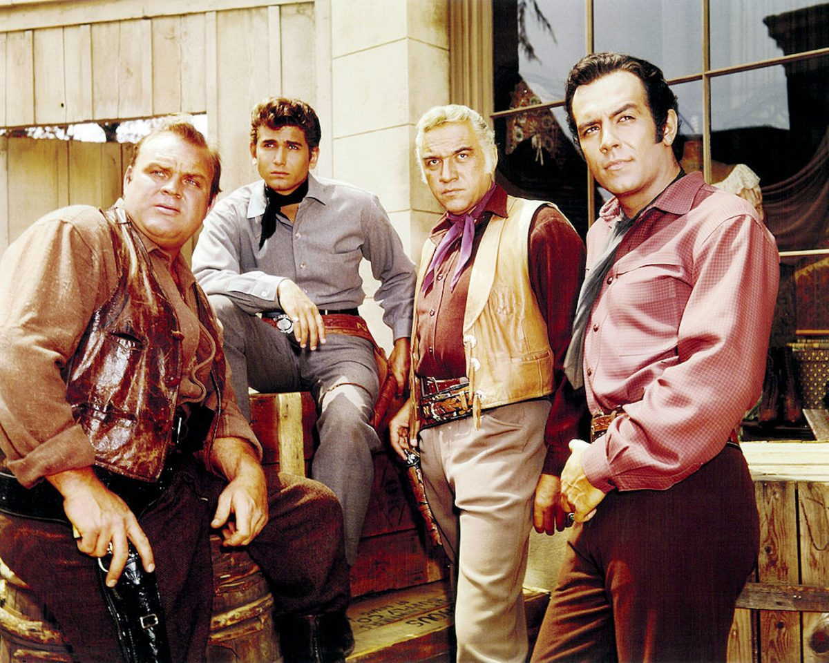 Members of the cast of the TV western series 'Bonanza'