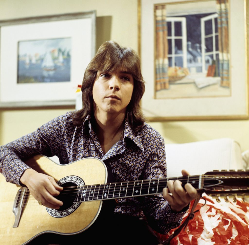 David Cassidy of The Partridge Family near a painting
